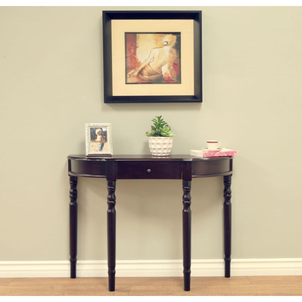 espresso entryway table. Homecraft Furniture Espresso Storage Console Table Entryway N