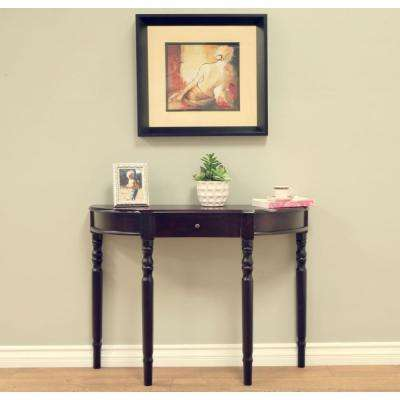 Espresso Storage Console Table