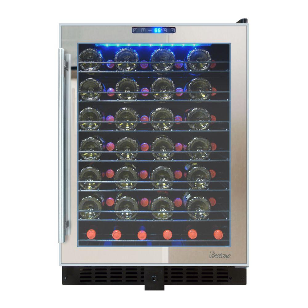 Vinotemp 23.5 in. 54-Bottle Touch Screen Mirrored Wine Cooler  sc 1 st  The Home Depot & Vinotemp 23.5 in. 54-Bottle Touch Screen Mirrored Wine Cooler-VT ...