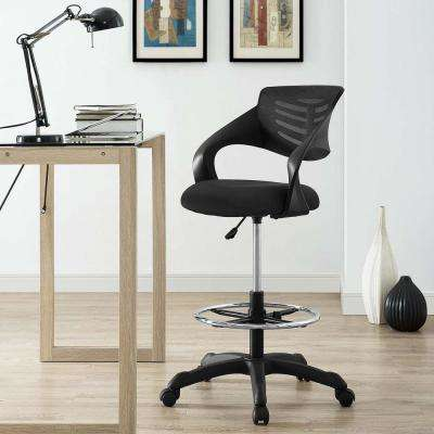 Thrive Mesh Drafting Chair in Black