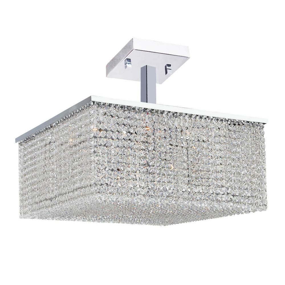 Worldwide Lighting Prism Collection 12-Light Chrome Ceiling Light