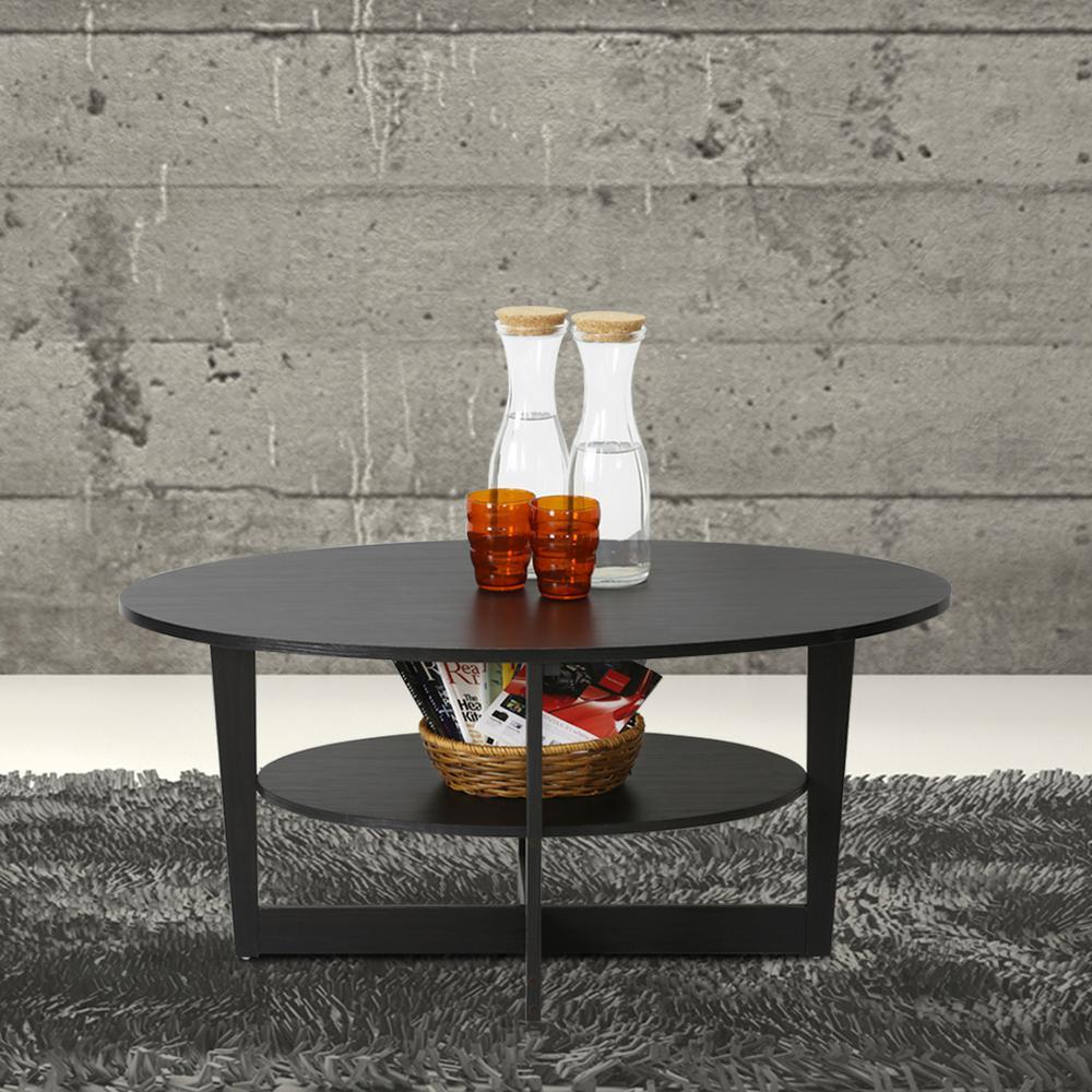 Furinno jaya walnut built in storage coffee table 15020wn the furinno jaya walnut built in storage coffee table geotapseo Images