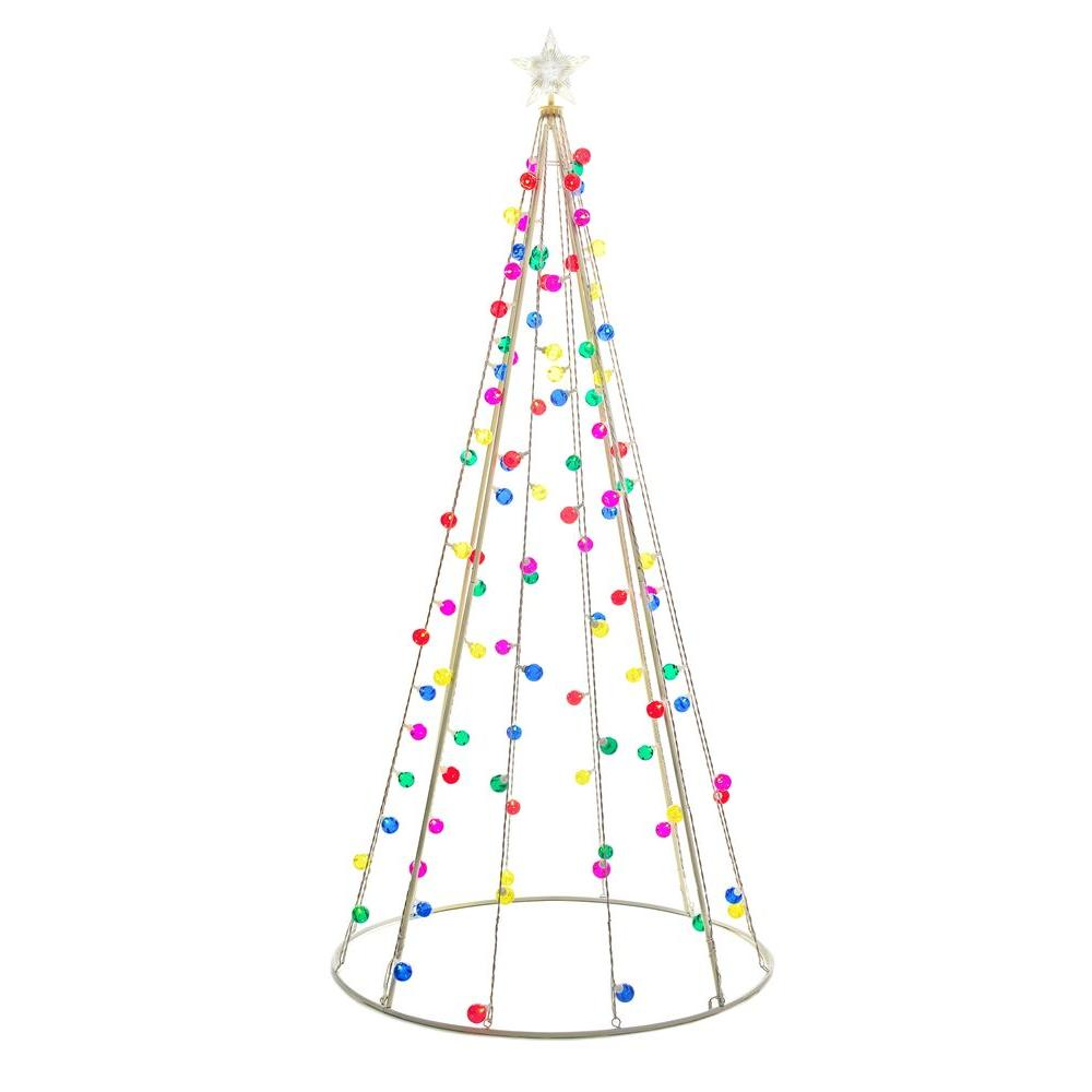 Pre Lit Christmas Tree Fuses: Christmas Cone Tree 7 Ft LED 105 Multi-Color Mini Lights