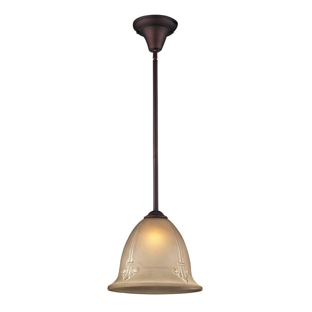 Titan Lighting 1-Light Aged Bronze Ceiling Mount Pendant-DISCONTINUED