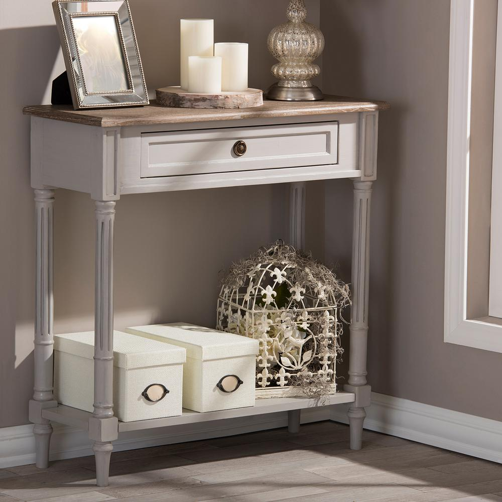 Edouard French Inspired White Console Table