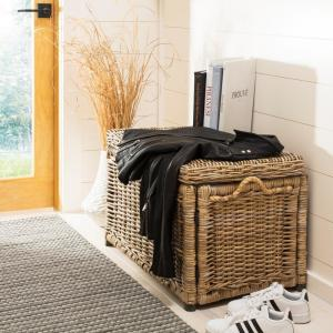 happimess Jacob 30 inch Natural Wicker Storage Trunk by happimess