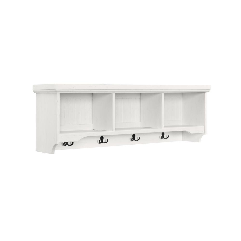 Southern Enterprises Seaside Floating Wall Shelf White Finish