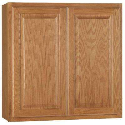 Hampton Assembled 30x30x12 in. Wall Kitchen Cabinet in Medium Oak