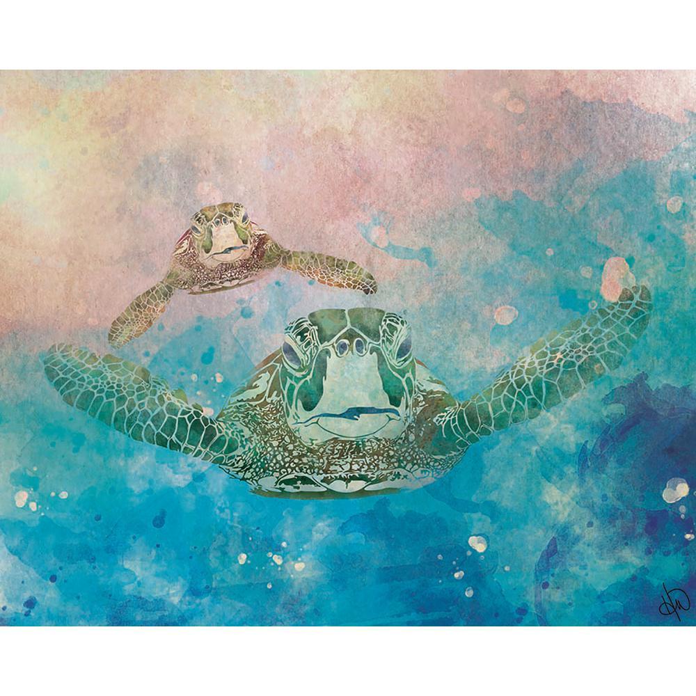 """20 in. x 24 in. """"Two Turtles Epsilon"""" Acrylic Wall Art Print"""