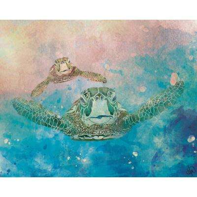 20 in. x 24 in. Two Turtles Epsilon Wrapped Canvas Wall Art Print