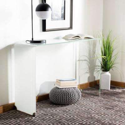 Crysta Glass Clear/White Console Table