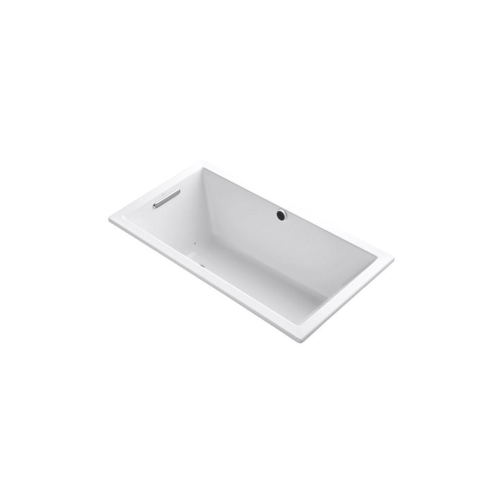 KOHLER Underscore 5 ft. Acrylic Rectangular Drop-in Whirlpool Bathtub in White