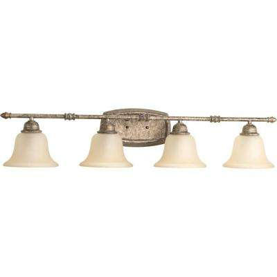 Spirit Collection 4-Light Pebbles Bathroom Vanity Light with Glass Shades