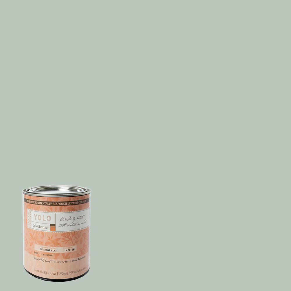 YOLO Colorhouse 1-Qt. Water .02 Flat Interior Paint-DISCONTINUED