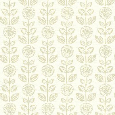 Dolly Beige Floral Wallpaper 56.4 sq. ft.