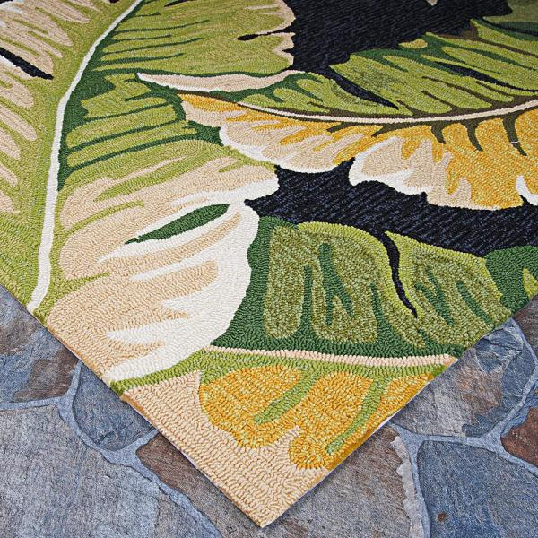 Couristan Covington Rainforest Forest Green Black 4 Ft X 6 Ft Indoor Outdoor Area Rug 49724000036056t The Home Depot