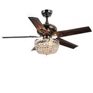 Warehouse of Tiffany Angel 43 inch Indoor Bronze 5-Blade Crystal Chandelier Ceiling Fan by Warehouse of Tiffany