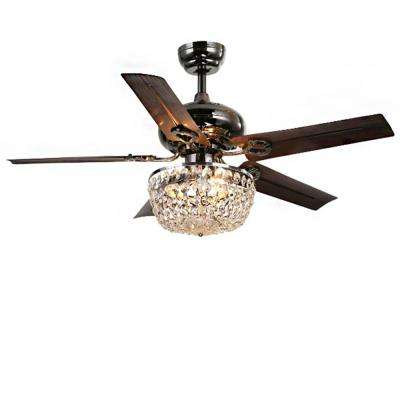 Angel 43 in. Indoor Bronze 5-Blade Crystal Chandelier Ceiling Fan with Light Kit