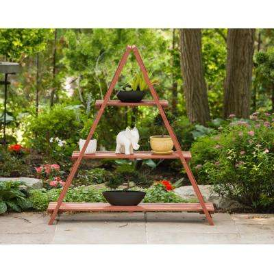 53 in. W x 48 in. H Wooden Ladder Plant Stand