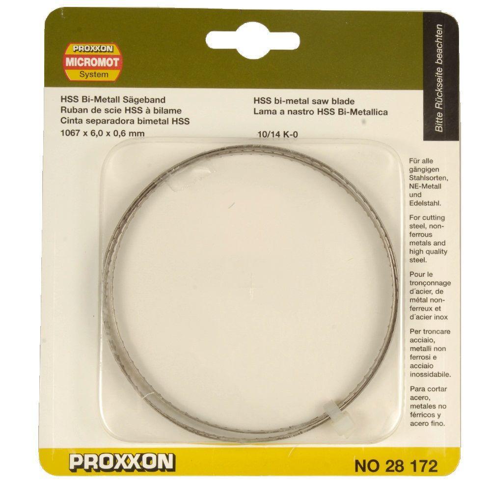 Proxxon 42 in. x 6 mm 10/14 TPI Bimetal Band Saw Blade