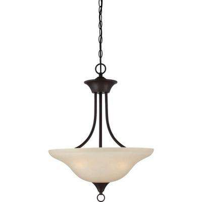 Trinidad 3-Light Antique Bronze Pendant/Semi Flush-Mount Light