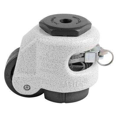2 in. Nylon Wheel Metric Stem Ratcheting Leveling Caster with Load Rating 550 lbs.