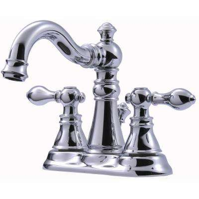 Signature Collection 4 in. Centerset 2-Handle Bathroom Faucet with Pop-Up Drain in Chrome