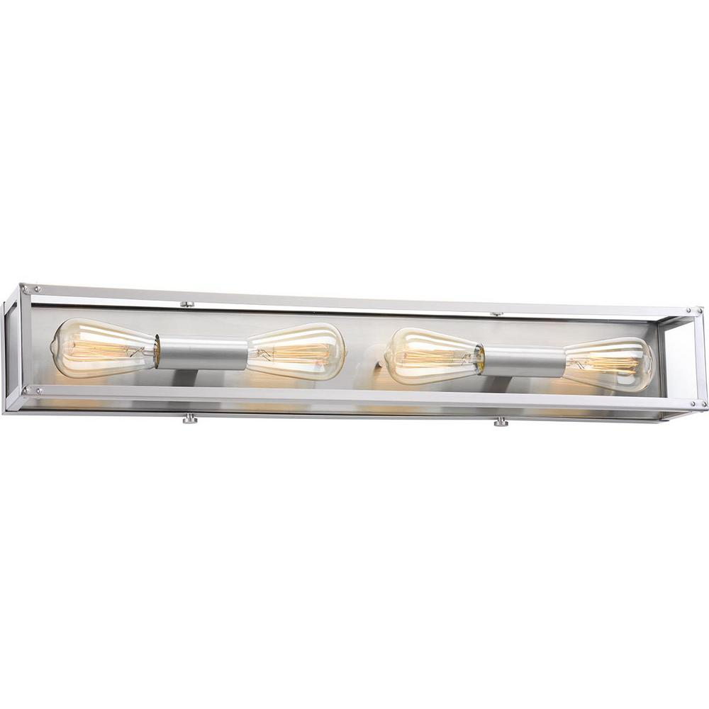 Progress Lighting Union Square Collection 4-Light Stainless Steel ...