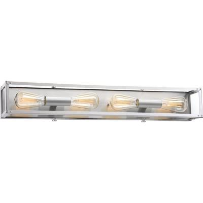 Union Square Collection 4-Light Stainless Steel Bath Light