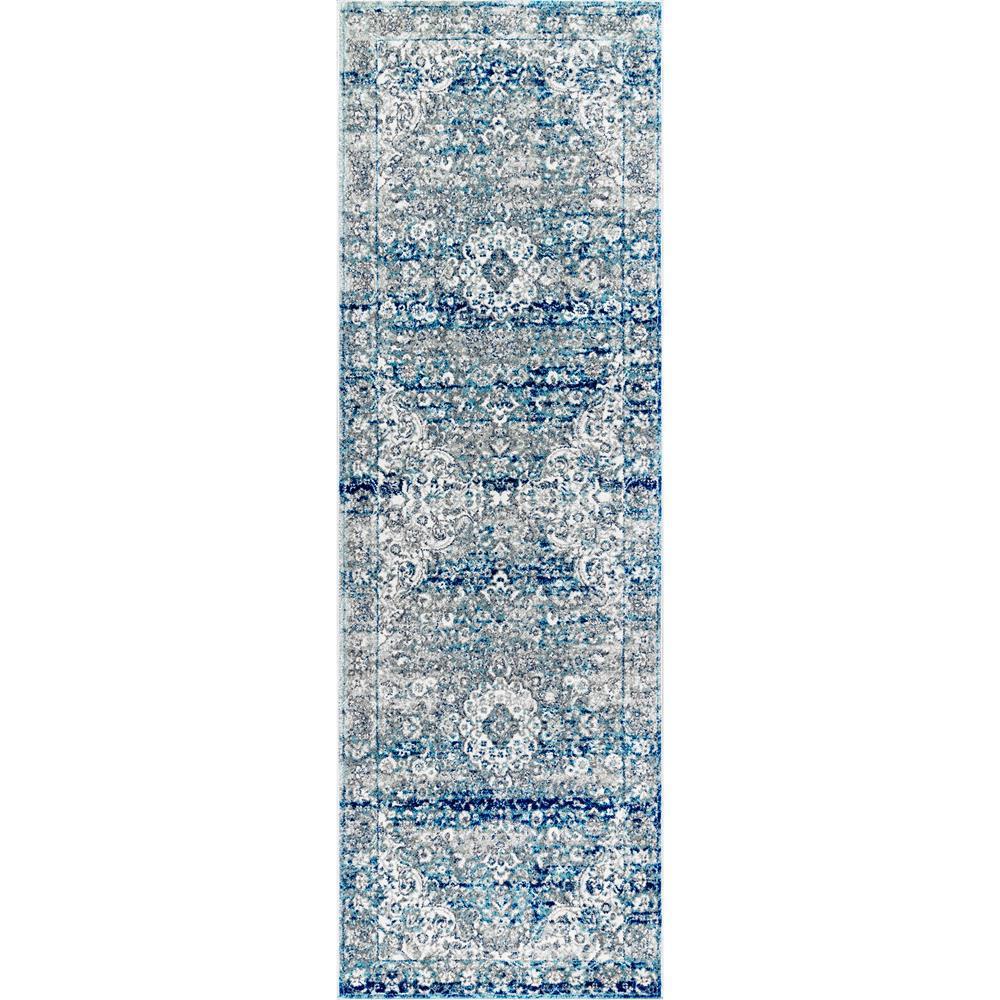 Verona Vintage Persian Light Blue 2 ft. 6 in. x 6 ft. Runner Rug