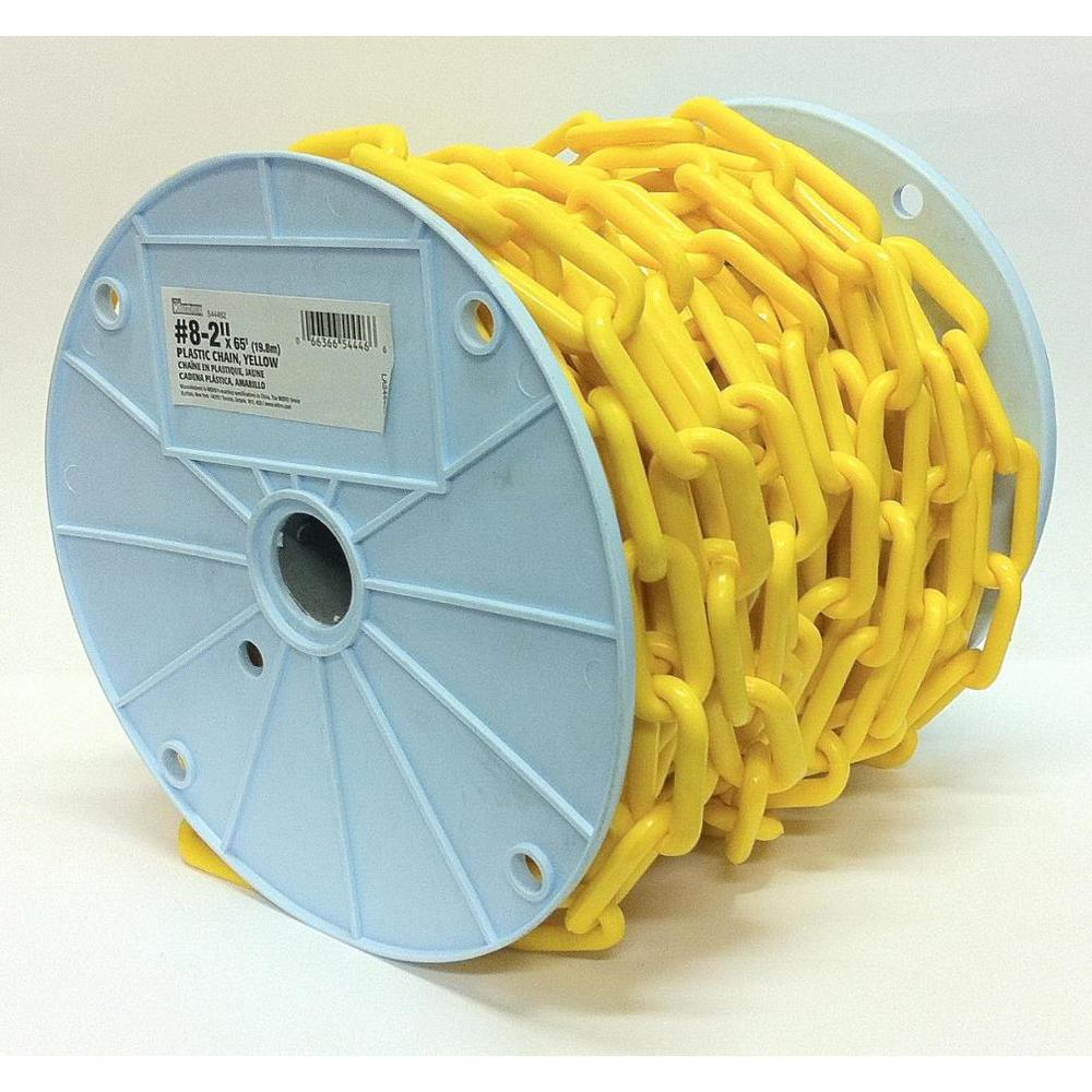2 in. x 65 ft. Light-Duty Yellow Plastic Barrier Chain -