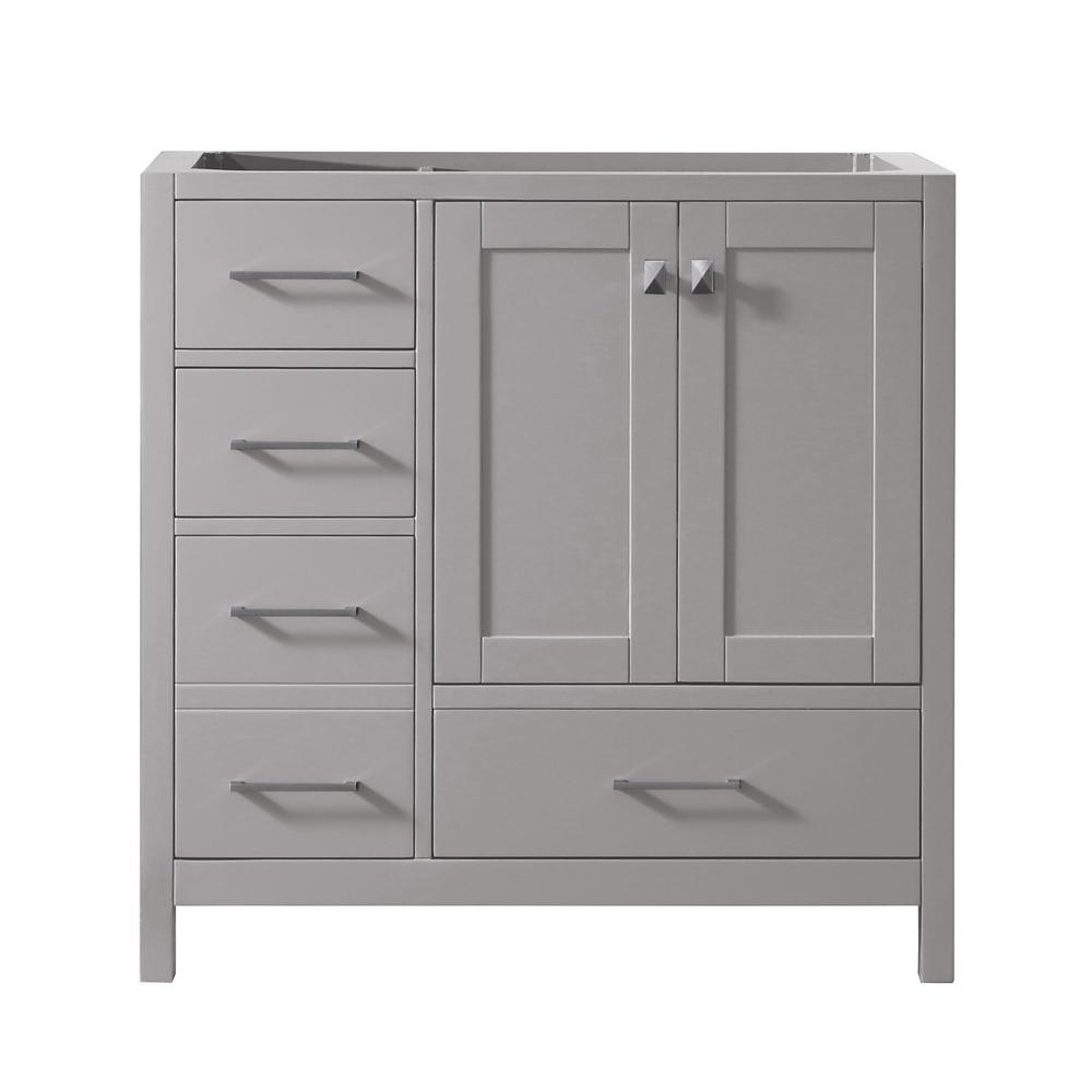 Caroline Madison 36 in. W Bath Vanity Cabinet Only in Cashmere