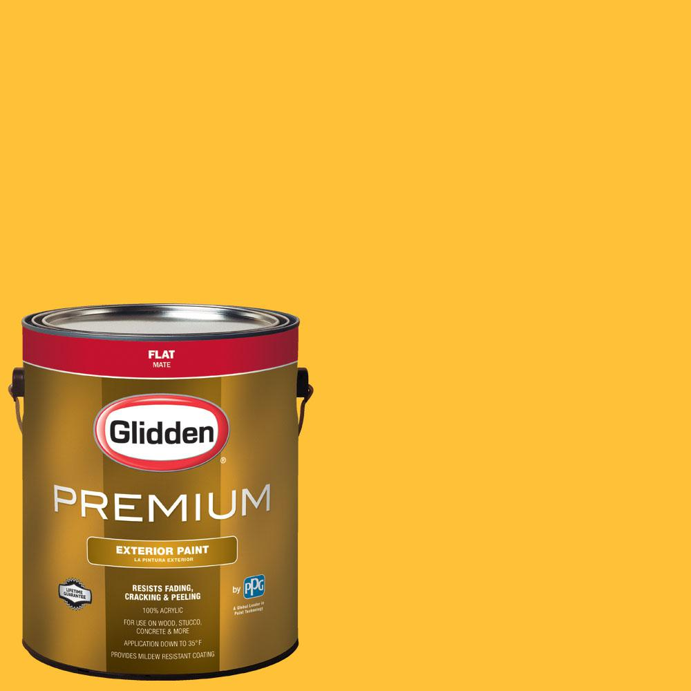 Glidden Premium 1 gal. #NBA-042D Golden State Warriors Yellow Flat ...