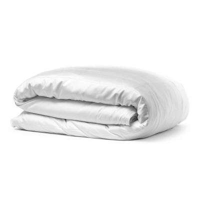 100% Certified Organic Cotton Sateen Wrinkle Resistant White Queen Duvet Cover