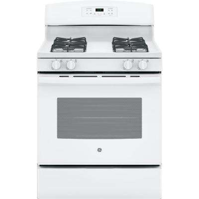 30 in. 5.0 cu. ft. Free-Standing Gas Range with Self Cleaning Oven in White