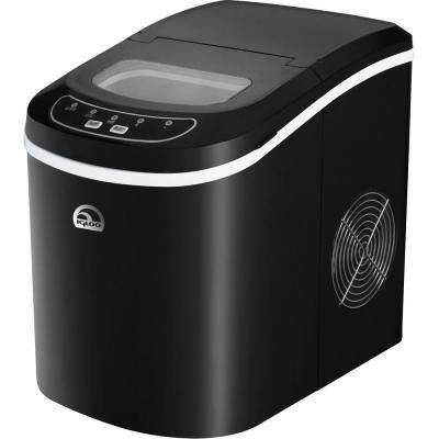 26 lb. Freestanding Ice Maker in Black