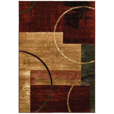 Grace Red 5 ft. x 7 ft. Plush Indoor Area Rug