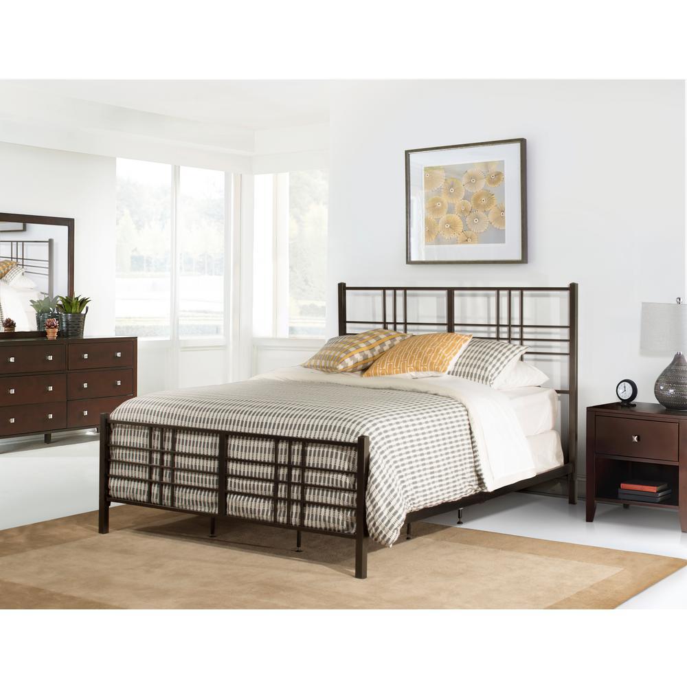Manhattan Dark Pewter Queen Bed in One