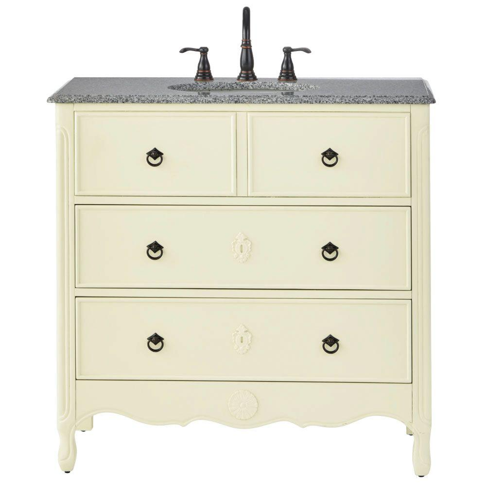 home decorators collection keys vanity home decorators collection 36 in w vanity in ivory 12843