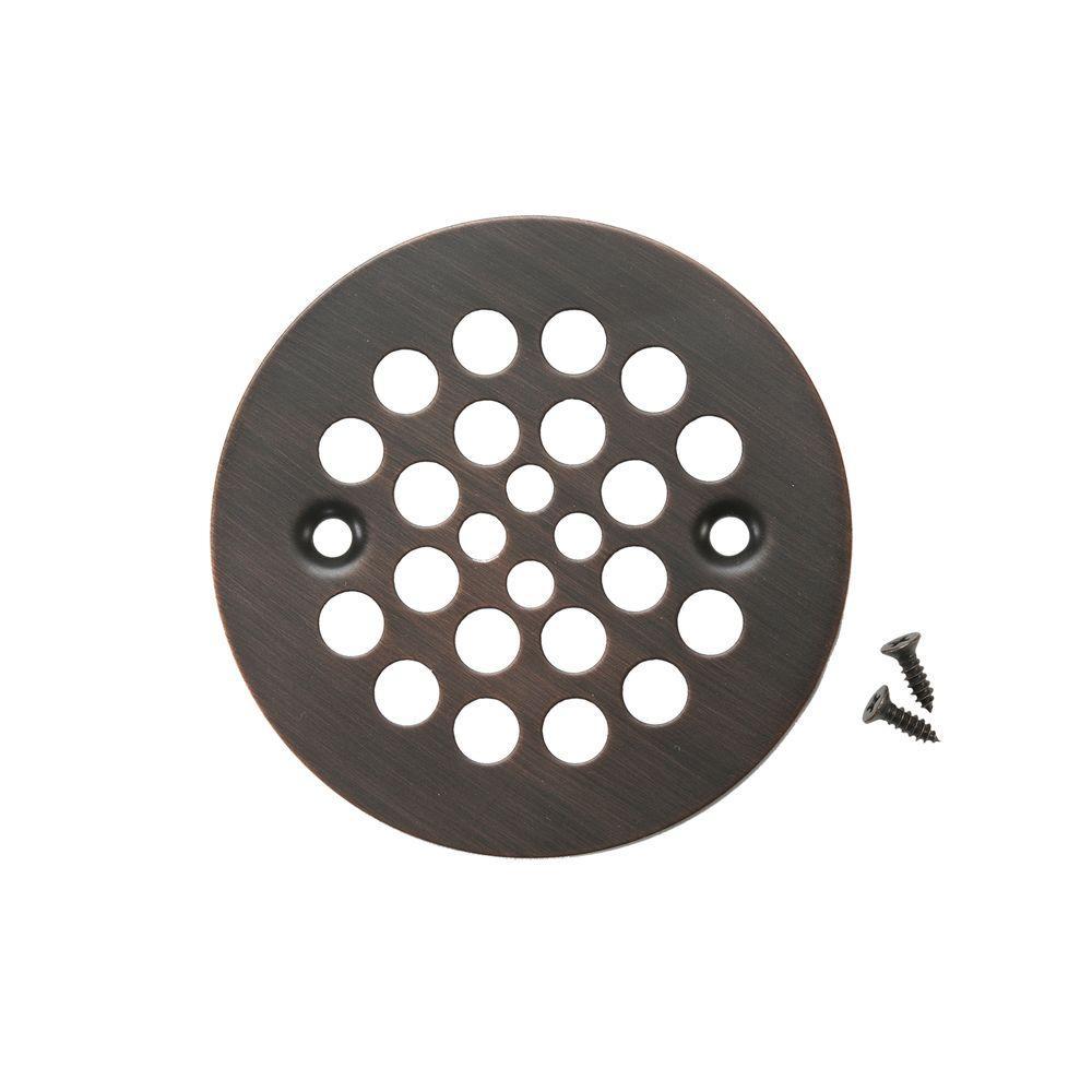 Round Shower Drain Cover Oil Rubbed Bronze