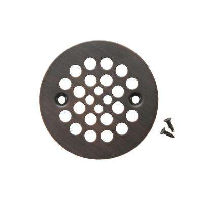 4.25 in. Round Shower Drain Cover, Oil Rubbed Bronze