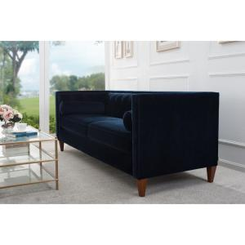 Jennifer Taylor Jack Tuxedo Dark Navy Blue Sofa 8403-3-872 ...
