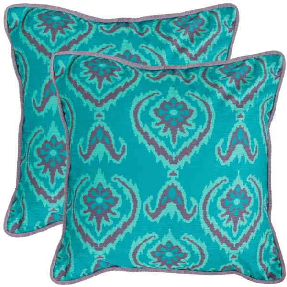 Safavieh Alpine Printed Patterns Pillow (2-Pack) PIL161A-1818-SET2
