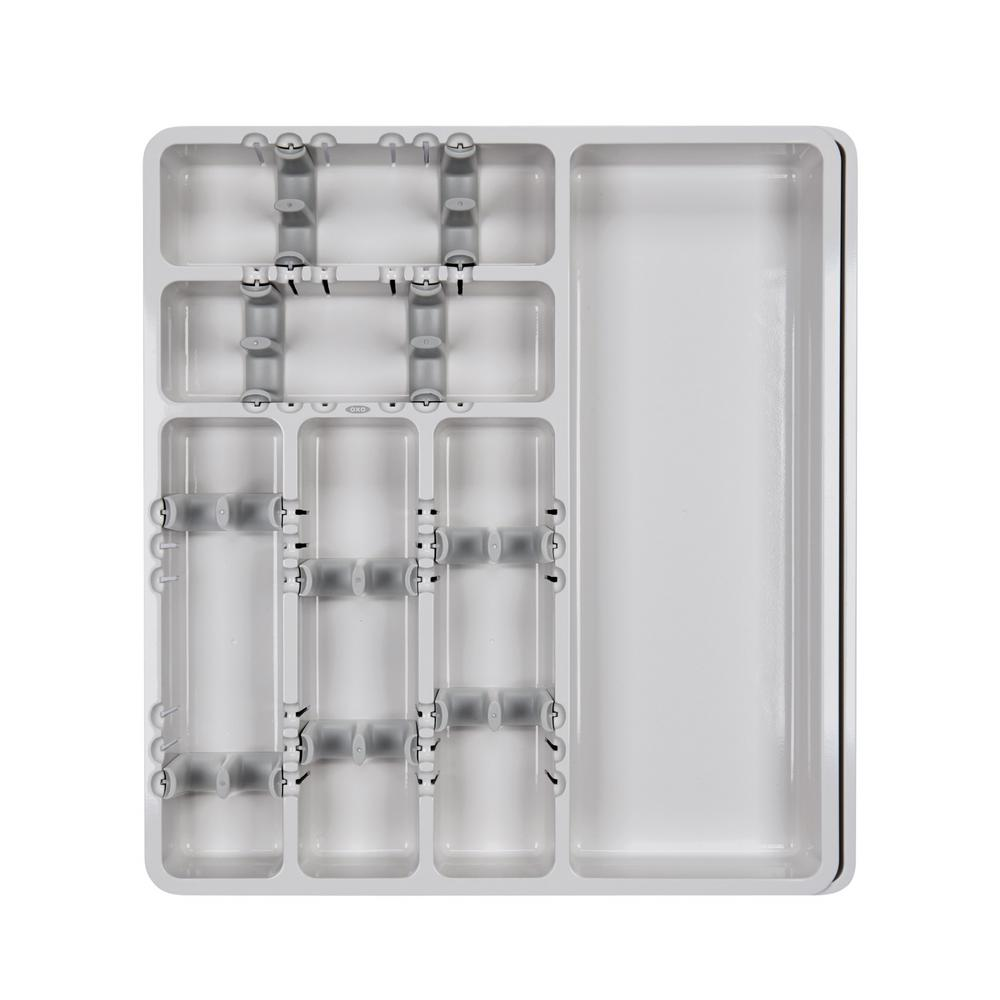 Good Grips Large Expandable Utensil Organizer in Gray