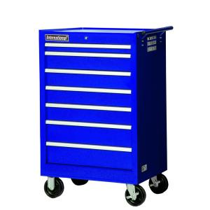 International 27 inch Tech Series 7-Drawer Roller Cabinet Tool Chest in Blue by International