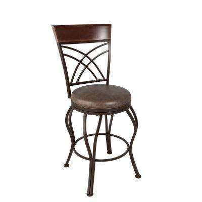 Jericho 3-Piece Rustic Brown Bar Stool and Bistro Table Set