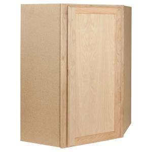 kitchen wall cabinets unfinished assembled 24x30x24 in corner wall kitchen cabinet in 22145