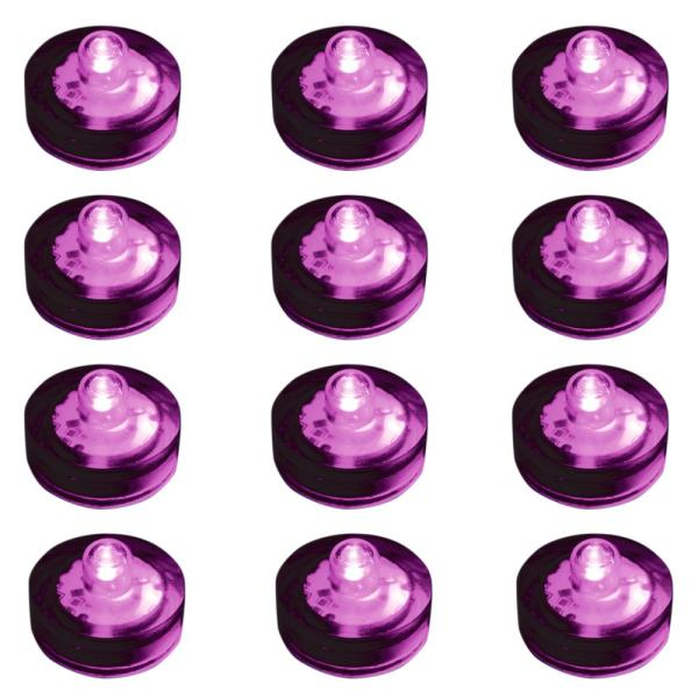 Purple Submersible LED Lights (Box of 12)