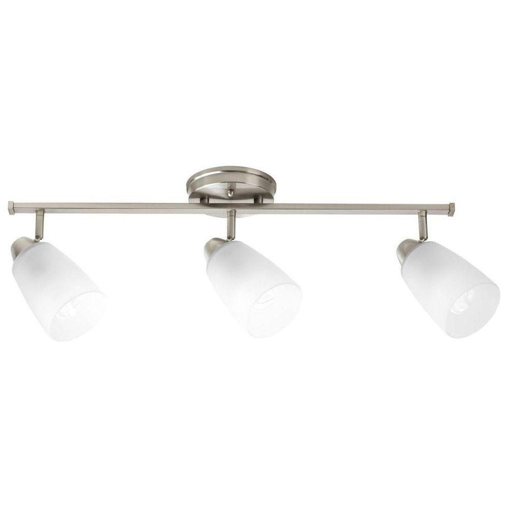 Progress Lighting Wisten Collection 3-Light Brushed Nickel Spotlight Fixture