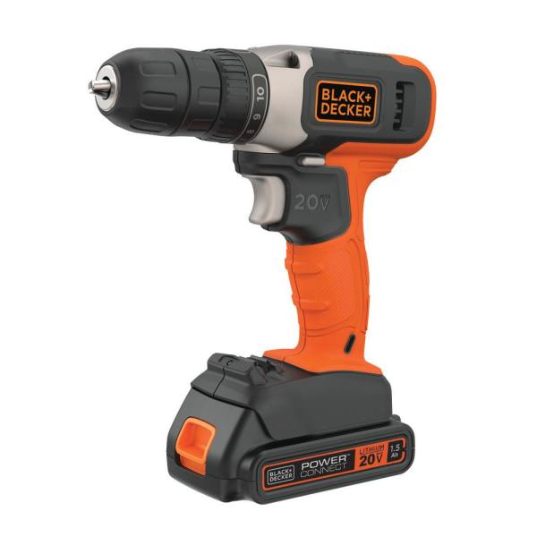 20-Volt Lithium-Ion Cordless 3/8 in. Drill/Driver with 1.5Ah Battery and Charger